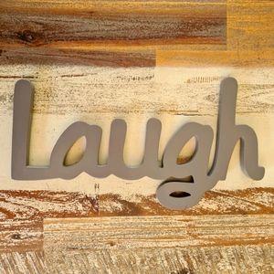 Splosh Wooden LAUGH Sign Wall Decor
